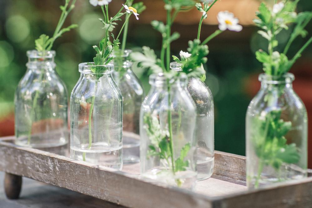 Hochzeitsverleih, Dekorationsverleih, hochzeitsdekoration, hochzeit, dekoration, gläser, blumenvasen