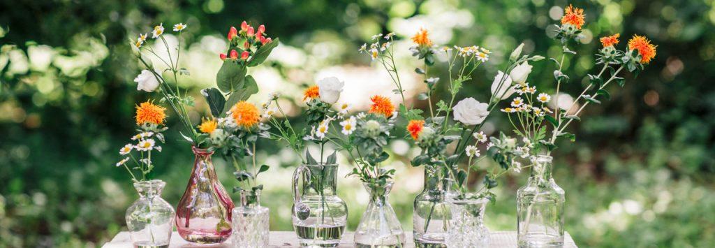 dekoration, hochzeit, hochzeitsdekoration, vasen