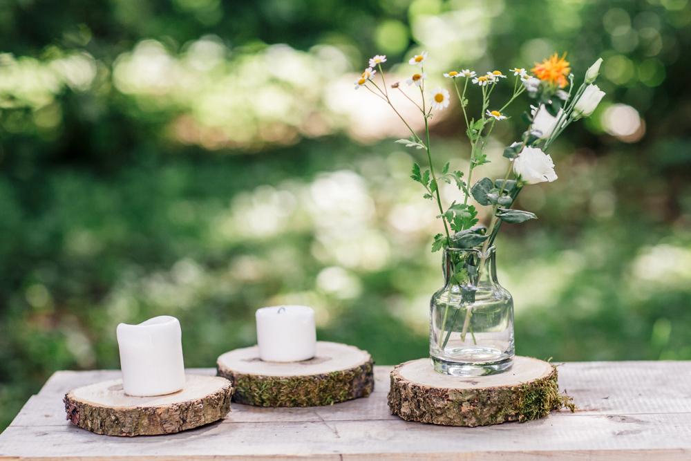 Hochzeitsverleih, Dekorationsverleih, hochzeitsdekoration, hochzeit, holzscheiben, dekoration