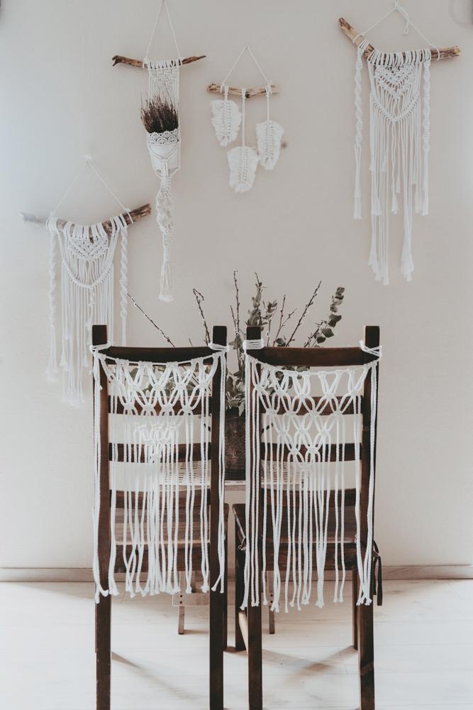hochzeitsverleih, dekorationsverleih, Hochzeit Deko Boho Vintage Makramee