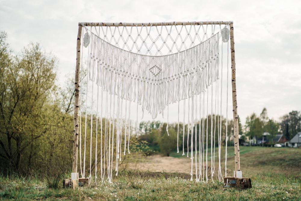 Traubogen, Makramee, Boho, Hochzeitsdeko, Trauung, Ausgeschmückt, Hochzeitsverleih