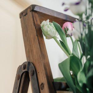 Leiter, vintage-dekoration, hochzeitsdekoration, hochzeitsverleih_rostock, ausgeschmueckt