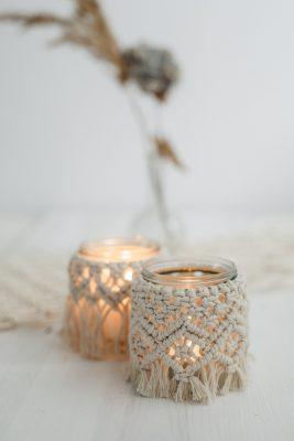 boho_deko, makramee, romantische windlichter, deko_ leihen, ausgeschmückt, hochzeitsdeko_rsotock